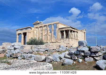 Small Temple On The Top Of Acropolis In Athens Greece Photography