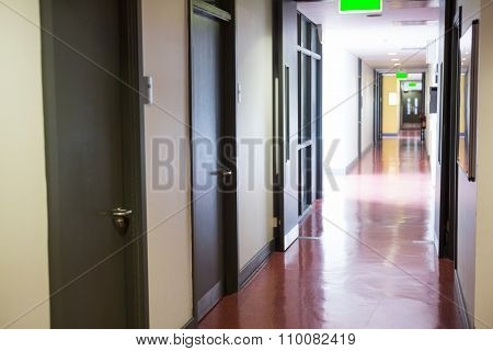 Empty hallway in college