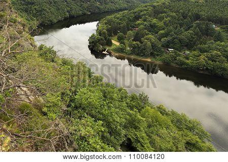Meanders Of Prague River Vltava