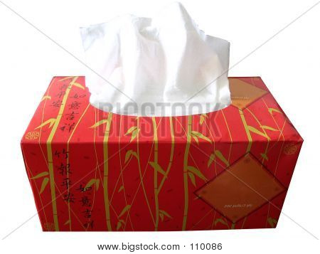 Red Box Of Tissue Paper