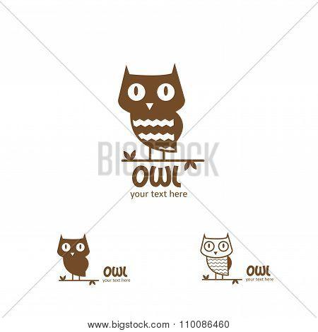Vector Owl Logo.