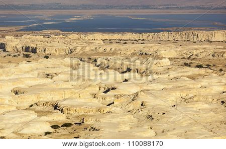 Judean Desert And Dead Sea. Israel.