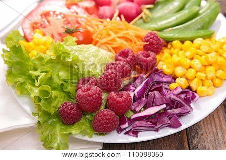 colorful vegan salad