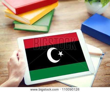 Libya National Flag Government Freedom LIberty Concept