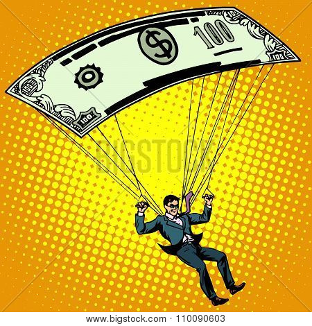 Golden parachute business concept cash compensation