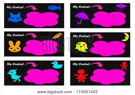 Cute Calling Cards / Business Cards / Name CardsTemplates