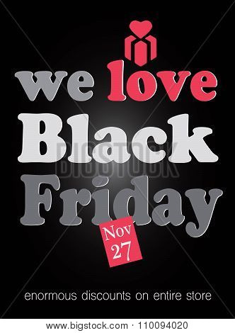 We Love Black Friday Disounts. Total Sales
