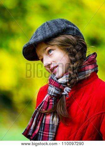 Cute Teenage Girl Autumnal Portrait