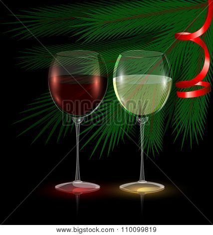festive glasses of wine