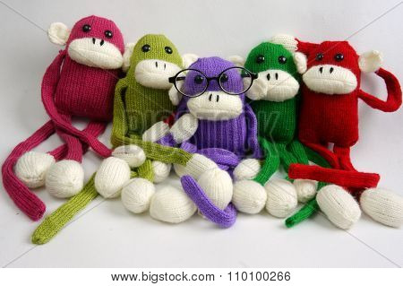 Family, Stuffed Animal, New Year, Monkey, Funny