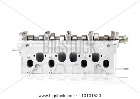 Engine Block Opened, Rear View.