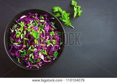 Red Cabbage And Spring Onion Salad