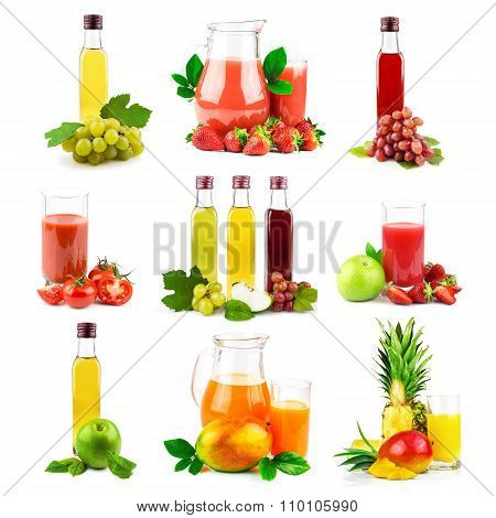 Multi Fruit And Vegetable Juice With Tropical Fruit And Vegetable, Set