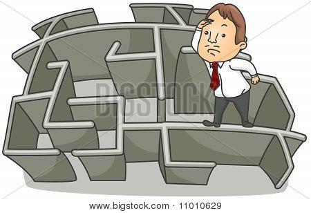 Businessman Maze