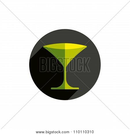 Horeca Graphic Element, Sophisticated Martini Glass. Alcohol Theme Conceptual Symbol
