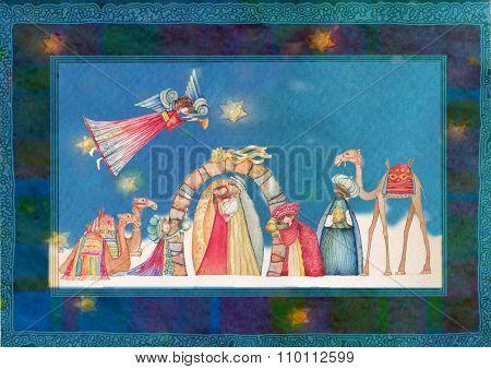 Christmas Nativity scene Jesus, Mary, Joseph