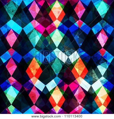 Colored Mosaic Seamles Pattern