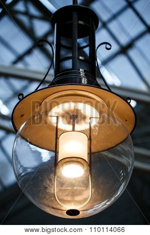 Edison light bulb in the shop