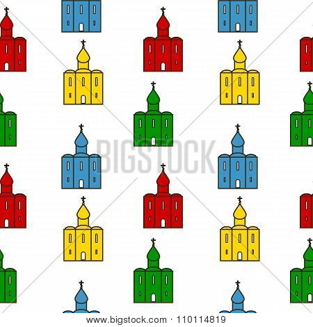 Orthodox Church Seamless Pattern.