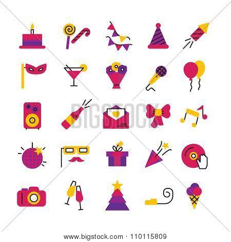 Celebration Party Icons Set