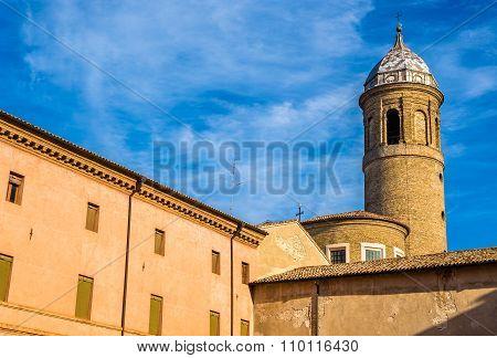 Bell Tower Of San Vitale Basilica - Ravenna, Italy