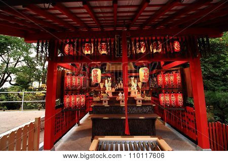 Kyoto, Japan November 22, 2015: Jishu shrine in Kyoto.
