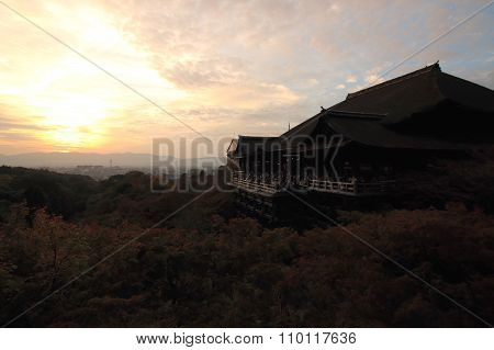 Kyoto, Japan, November 22, 2015: Kiyomizu Temple in Kyoto. Kiyomizu Temple is one of the most famous temples in Japan. Kiyomizu Temple is very popular with foreigners. Also, it is beautiful colored leaves in autumn.