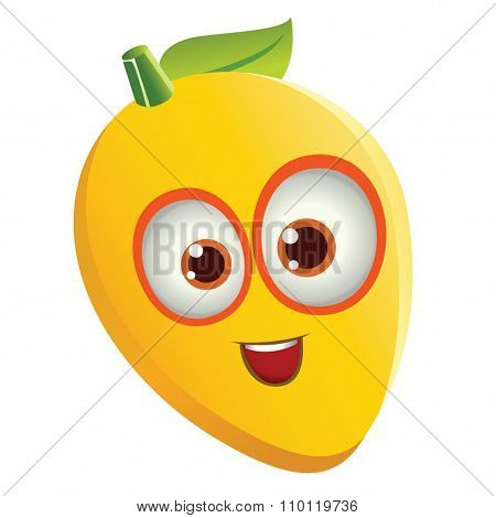 Mango with Face - Happy Smiling Face