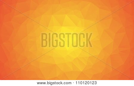 Shades Of Orange Abstract Polygonal Geometric Background - Low Poly.