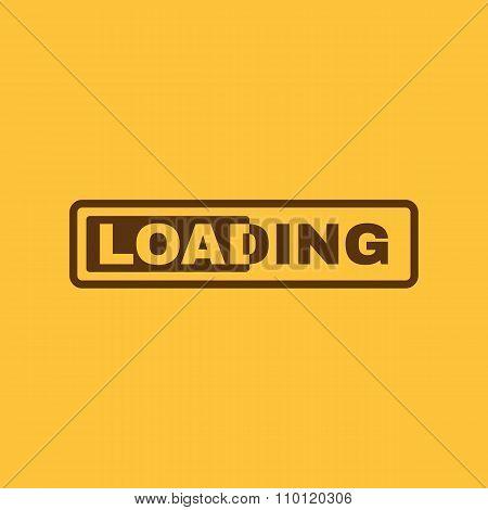The loading icon. preloader symbol. Flat