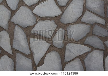 Natural Stone Wall Texture Background / Stone Paved Floor