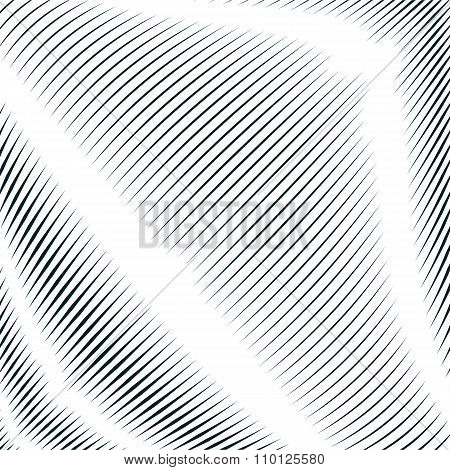 Decorative Lined Hypnotic Contrast Background. Optical Illusion, Creative Black And White Graphic
