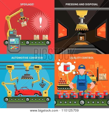 Conveyor Icons Set