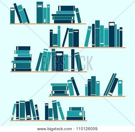 bookshelves blue