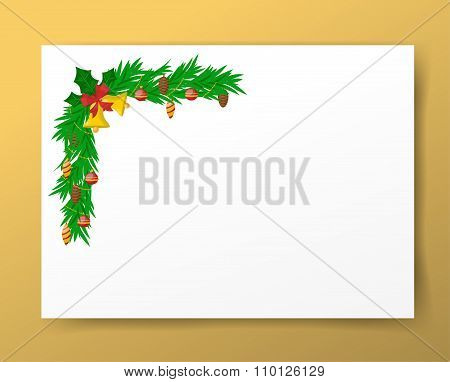 Christmas greeting card illustration