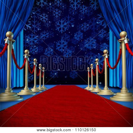 Winter Red Carpet Background