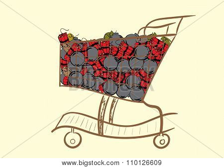 The cart with explosives