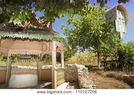 Republic Of Moldova, Orhei Vechi, A Well And A Wayside Shrine