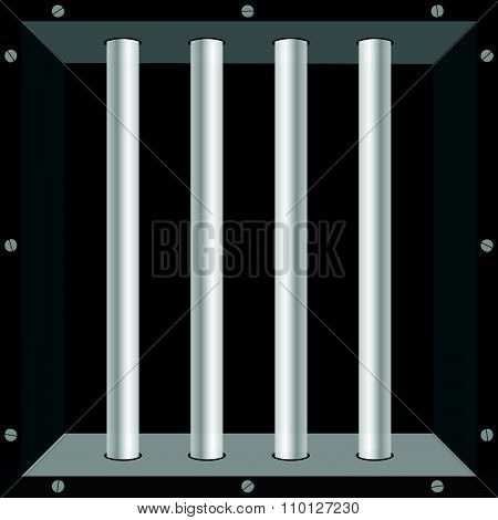 Prison Window Vector Illustration Part Two Background