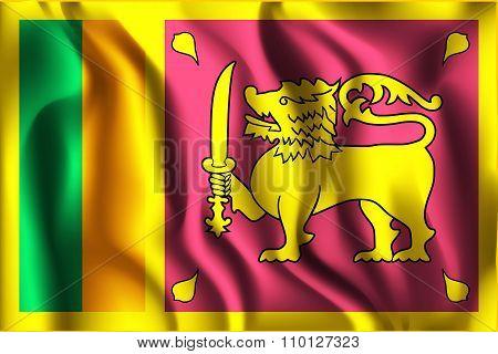 Flag Of Sri Lanka. Rectangular Shape Icon