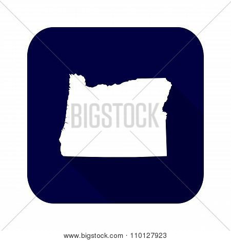 Map Of The U.s. State Of Oregon