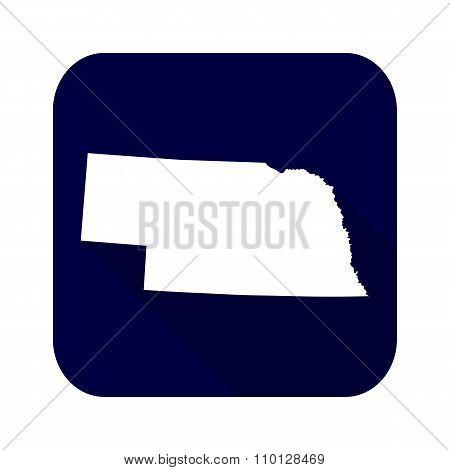Map Of The U.s. State Of Nebraska