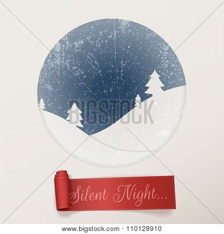 Christmas silent Night white greeting Card