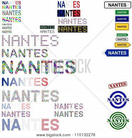 Nantes text design set