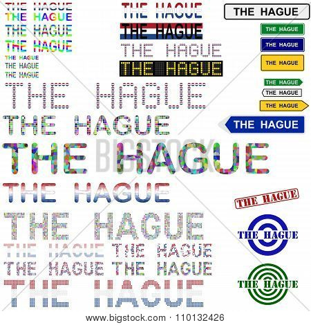 The Hague text design set