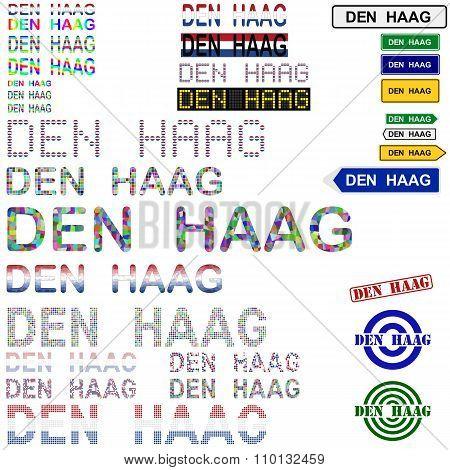 Den Haag text design set