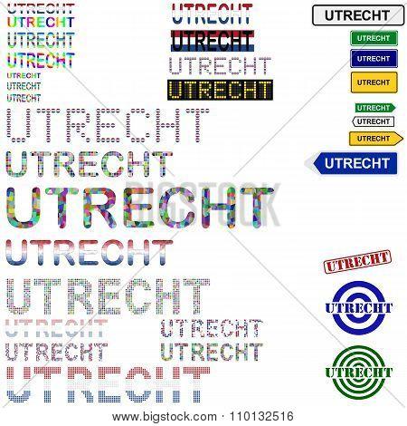 Utrecht text design set