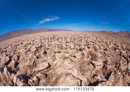 Desert made of salt - Death Valley view
