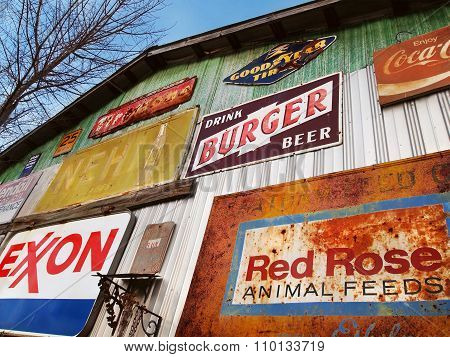 Antique Metal Advertising Signs