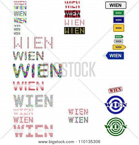 Wien text design set